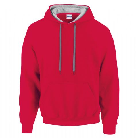 CHOOSE DESIGN - RED WITH GREY INNER HOOD